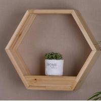 Buy cheap Floating Shelf Hexagon Honeycomb Wall Mounted Shelves Decorative Hanging Wood Shelf Display for Plant Holder from wholesalers
