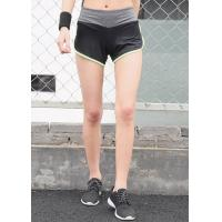 Buy cheap Color Contrast Womens Sports Shorts Plain Dyed Technics Attractive Appearance from wholesalers