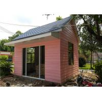 Buy cheap EPS Sandwich Panel Roof Pink Cladding Prefab Steel House For Reception Room from wholesalers