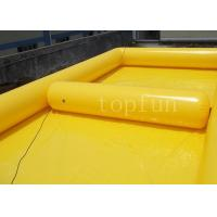 Buy cheap Yellow Square Outdoor Inflatable Water Pools PVC For Water Walking Ball from wholesalers