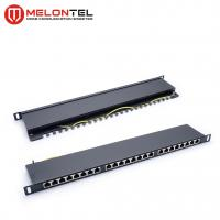 Buy cheap Cat6 Data Patch Panel 19 Inch 24 Port 0.5U , Dual IDC UTP Patch Panel MT4018 from wholesalers