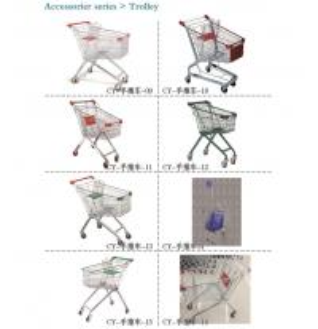 China Folding Shopping Trolley ,  Metal Shopping Cart Logistics Trolley on sale