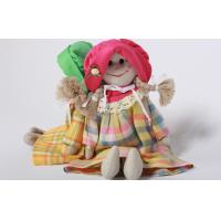 Eco-friendly 100% linen fabric girl doll Hand-stitched toy gift for home decoration Manufactures