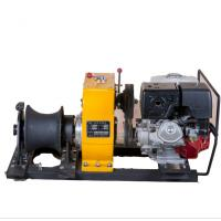 China 8 Ton  cable winch / Gas Engine Powered Winch For electric power construction on sale