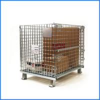Buy cheap Industrial galvanized foldable roll metal wire mesh storage cage from wholesalers