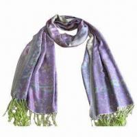 """Wholesale Cashmere-like Scarf, Customized Specifications are Accepted, Measuring 2.23""""x5.9""""+0.26""""x2"""" from china suppliers"""