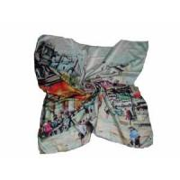 Wholesale Branded Square Silk Scarf (LC009) from china suppliers