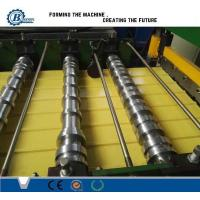 Buy cheap 0.3-0.7mm Color Coated Metal Roof Panle Roll Forming Machine With Automatic PLC Control from wholesalers