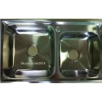 Wholesale China Factory Suppy double sink kitchenStainless Steel  Sink WY-7742D from china suppliers