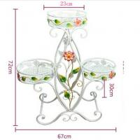 China Decorative Three Tier Plant Stand Outdoor , Heavy Duty Wire Plant Stand Garden Furniture Ornaments on sale