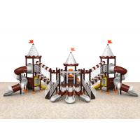 Buy cheap Galvanized steel pipe colorful castle style outdoor playground for park TQ-CB1295 from wholesalers