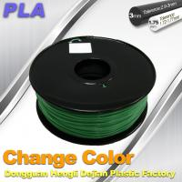 Wholesale 1.75 / 3.0mm 3D Printing PLA Filament , Color Changing Filament  Blue Green to Yellow Green from china suppliers