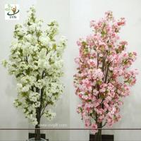 China UVG CHR089 Artificial white cherry blossom trees small bonsai Wedding Centerpieces on sale