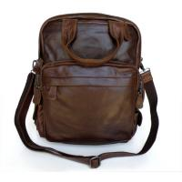 Buy cheap Wholesale Price Classic Vintage tan Leather Backpack Messenger Bag Handbag Purse HOBO #7007-1Q from wholesalers