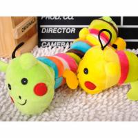 Buy cheap 28cm 100% new yellow plush Caterpillar dog chewing toy toxic free and safe with sound from wholesalers