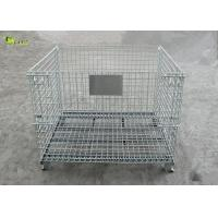 Wholesale Industrial Transport Metal Shelves Collapsible Storage Cabinet Mesh Turnover Box from china suppliers