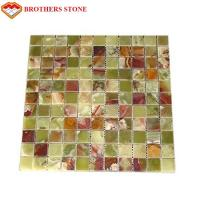 Buy cheap Green Jade Onyx Slab , Natural Onyx Mosaic Tile For Kitchen Floor product