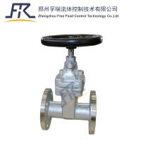 China stainless steel CF8 Rubber Wedge Non-Rising Stem Gate Valve on sale