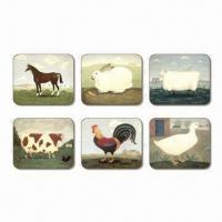 Buy cheap Placemats, Available in Back, Suitable for Promotional Gifts, Made of MDF, Cork and Color Paper from wholesalers