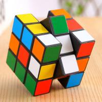 Wholesale Promotional children's toys 3 x 3 x 3 Rubik's Cube Black + Multi-Colored Speed Cube Puzzle Magic Cube 3-layers fancy Toy from china suppliers