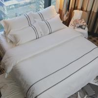 Buy cheap 100% Hotel Cotton Sheets , Wrinkle Fade Resistant Hotel Collection Sheets Bed Linens from wholesalers