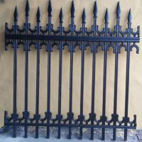 Buy cheap Antique Decorative Iron Fence / Pedestrian Safety Barrier Custom Metal Fence from wholesalers
