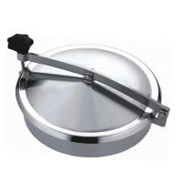 China Normal Pressure Stainless Steel Manhole Cover , Tank Round Manhole Cover on sale