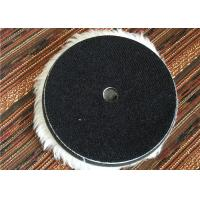 China Wool 6 Inch Hook And Loop Polishing Pads , Sheepskin Buffing Pads For Car Cleaning on sale