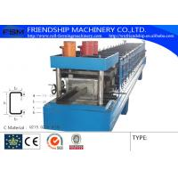 Cold / Hot Steel C Purlin Roll Forming Machine By Chain Transmission