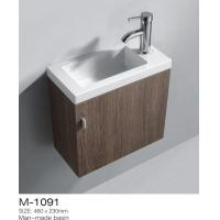 Buy cheap Creative MDF Bathroom Vanity White Washed Oak Finish Solid White Vanity Top Above from wholesalers