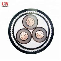 Buy cheap Medium Voltage 3core 15KV CU/XLPE/SWA/PVC Steel Wire Armoured Power Cable from wholesalers