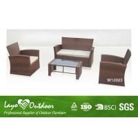 China 4 Piece Patio Set Wicker Resin Patio Furniture , Deep Seating Outdoor Furniture Light Weight on sale