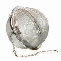 Buy cheap Stainless steel mesh tea ball with chain, mesh infuser, strainer and filter, environment-friendly from wholesalers