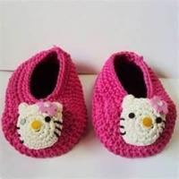 Buy cheap 100% wool Warm Hand crocheted baby shoes, knitted baby products for Autumn, Winter from wholesalers
