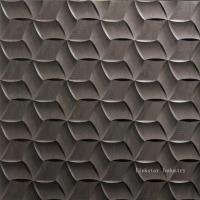 Wholesale Natural 3D Dark Grey Interior Design Stone Wallart Tile from china suppliers