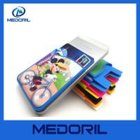 Wholesale Custom logo silicone sticky mobile phone card wallet with screen cleaner from china suppliers