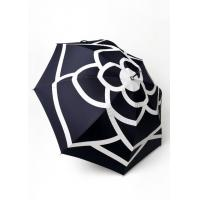 Wholesale Personalized Flower Printed Logo Straight Lady Umbrella With Transparent Crook Handle from china suppliers