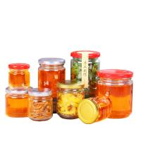 Buy cheap Lead Free Seal Label Glass Honey Jar With Tin Lid Food Grade Round Shape from wholesalers