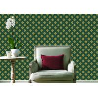Wholesale Embossed Pvc Contemporary Wall Coverings , Four Leaf Home Floral Wallpaper For Walls from china suppliers
