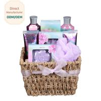 Buy cheap Purple Relaxing Bath Gift Sets Deep Cleaning Strawberry Fragrance Raw Materials from wholesalers