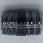 Buy cheap Seamless  Black Pipe Nipple 1X2  ANSI / ASME B1.20.1 Standard Size from wholesalers