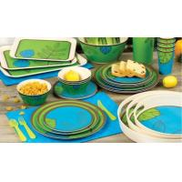 Buy cheap Food Grade Bamboo Tableware Set Smooth Surface Shatter Proof Bright Color from wholesalers