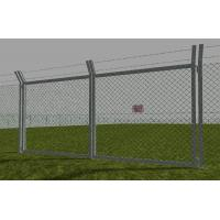 Buy cheap Zinc aluminum alloy chain link fence with accessories for border fencing from wholesalers