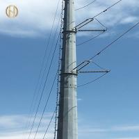 Buy cheap 69KV Steel Metal Utility Pole ASTM A 123 Hot Dip Galvanizing High Durability product
