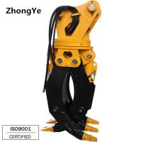 Buy cheap Factory Hydraulic excavator rotating log grapple for excavator used from wholesalers