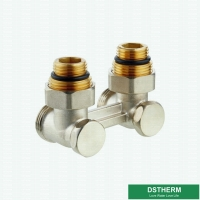 Buy cheap Customized Brand Brass Straight H Type Double Radiator Ball Valve For HVAC Systems from wholesalers