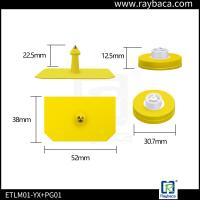 Buy cheap LF Cattle Identification Tags Yellow Color Waterproof Structure Design from wholesalers