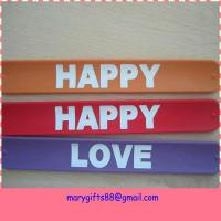 Buy cheap cheap custom made silicone slap bracelet from wholesalers