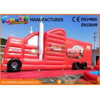 Wholesale Fun Truck Bounce House Inflatables Obstacle Course Red Fire Retardant from china suppliers