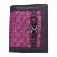 Wholesale Women's PVC Wallet with Metal Logo, Available in Various Colors, Measuring 11.5 x 9.5 x 2cm from china suppliers